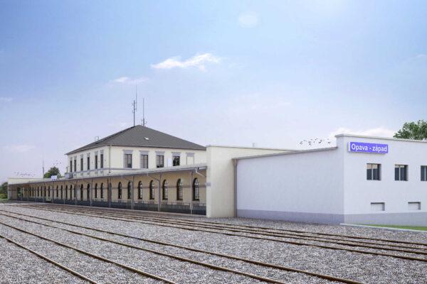 Rekonstrukce nádražní budovy Opava západ – pohodlnější cestování na dosah